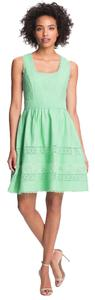 Jessica Simpson Fit & Flare Zooey Deschanel New Girl Mint Cute Dress