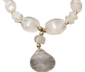 14k Pink Quartz Necklace