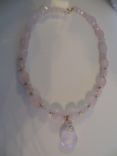Other 14k Pink Quartz Necklace