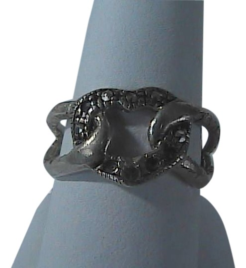 Vintage Sterling Silver Marcasite Heart Ring