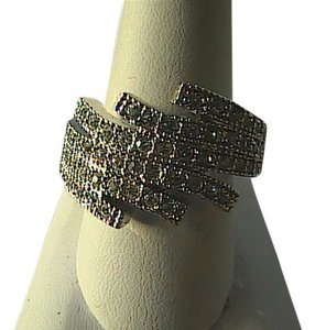 Unknown Crystal White Rhinestone Silver Tone Ring