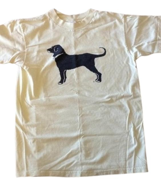 Other T Shirt vintage black dog yellow