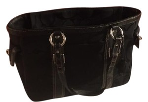 Coach Signature Collection Durable Tote in Black