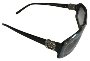 Chanel Chanel Grey/Black Sunglasses with Crystal