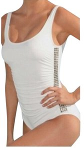 Michael Kors NWOT Studded Scoop Neck and Back White One Piece