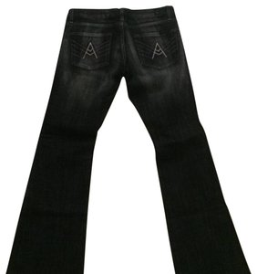 7 For All Mankind Boot Cut Pants Black ( faded black)