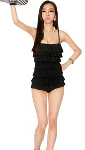 Other Women's One Piece Padded Monokini Swimsuit with Tiered Ruffles