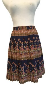 Anthropologie Pleated Size Small Skirt Blue