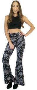 See You Monday Bell Yoga Flare Pants Black, White