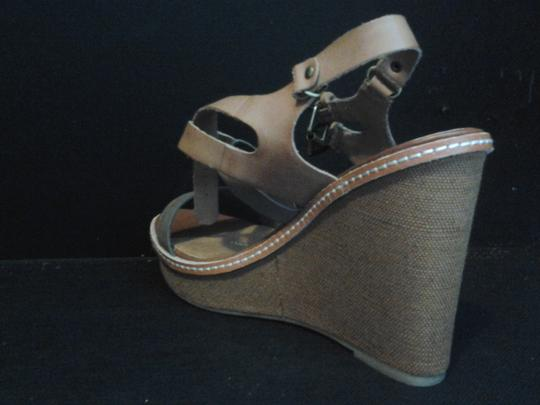 Dolce Vita Leather Sandals Strappy Sand Wedges