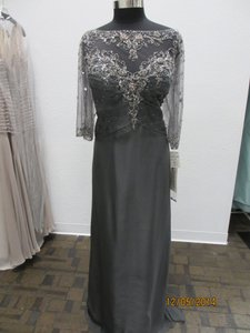 Montage Smoke Chiffon 213967 Modern Bridesmaid/Mob Dress Size 18 (XL, Plus 0x)