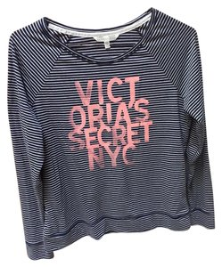 Victoria's Secret T Shirt Navy stripes