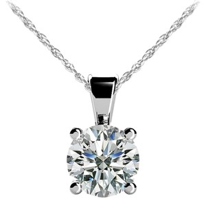Avi and Co 1.20 ct. Round Brilliant Diamond Solitaire Pendant G-H/SI-1 14K White Gold