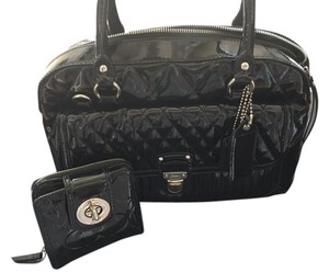 Coach Rounded Classic Versatile Satchel in Black