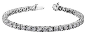 Avi and Co 4.00 cttw Round Brilliant Cut Diamond Tennis Bracelet 14K White Gold