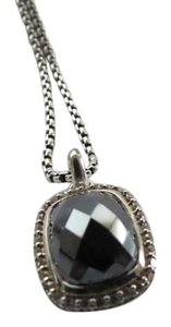David Yurman David Yurman Noblesse Collection - Hematine & Pave' Diamond Pendant w/ 16-17.5