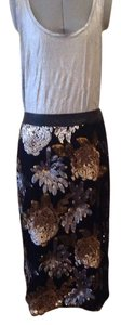 Anthropologie Skirt Black, silver, gold