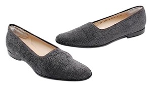 Salvatore Ferragamo Pebble Suede Grey Flats