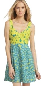 Nanette Lepore short dress Blue and yellow on Tradesy