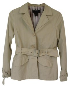 Outer Edge Stylish Trench Light Tan Jacket