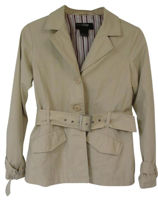 Outer Edge Light Tan Short Trench Style Jacket Size 8 (M) Outer Edge Light Tan Short Trench Style Jacket Size 8 (M) Image 1