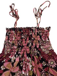 Body Central Top floral pink multi