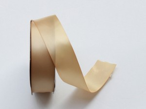 Beige Satin Ribbon 1.5 Inch X 10 Yards - Double Faced Satin Ribbon For Sash Or Decoration
