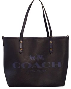 Coach Tote in Black/Blue