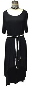 Black Maxi Dress by Anthropologie High Low Belted Tunic