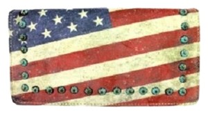 Montana West US13-W010 Montana West Vintage American Flag Collection Secretary Style Wallet