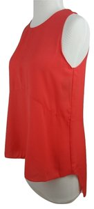 Rachel Roy Style-rmsja3267 Asymmetrical Style Teal Keyhole Back Neck Ships In 24 Hours Top Poppy Red
