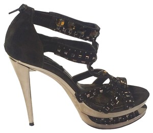 Chinese Laundry Sandals Stilettors Casual Brown Platforms