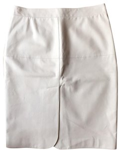 Armani Collezioni Leather Skirt stone