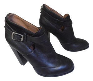 no. 704b Leather Ankle Cute! black Boots