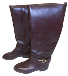 Nine West Leather Knee High Boot brown Boots