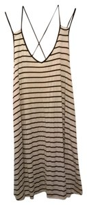 Windsor short dress White with Black stripes on Tradesy