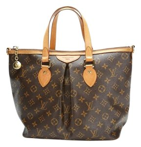 Louis Vuitton Palermo Canvas Tote in Brown
