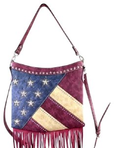 Montana West American Pride American Flag Hobo Bag