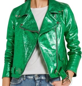 Golden Goose Deluxe Brand Green Leather Jacket