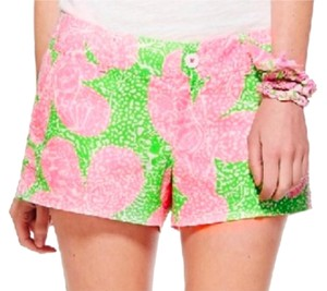 Lilly Pulitzer Dress Shorts Lime and Pink