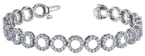 Avi and Co 3.65 cttw Round Brilliant Cut Diamond Circles Tennis Bracelet 14K White Gold
