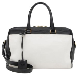 Saint Laurent Duffle 6 Satchel in Black & White