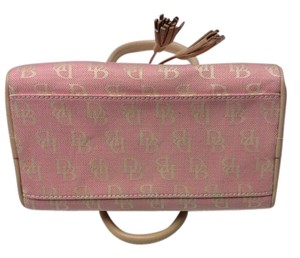 Dooney & Bourke Satchel in Pink and Lt. Tan