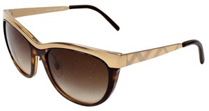 Burberry BURBERRY Tortoise and Gold Women's Fashion Sunglasses