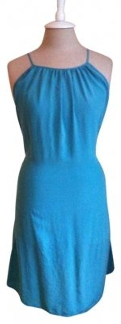 Preload https://img-static.tradesy.com/item/174999/forever-21-teal-tie-back-silk-knee-length-short-casual-dress-size-4-s-0-0-650-650.jpg