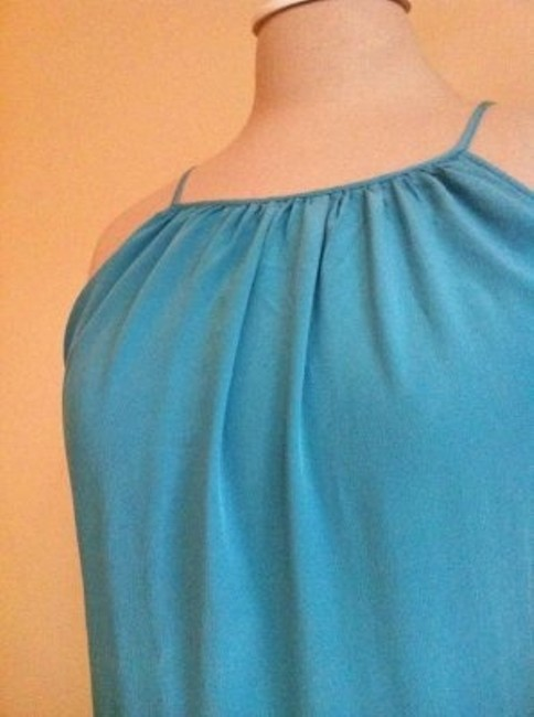 Forever 21 short dress Teal Tie Back Bow Short Long Silk Love Size Small Size 2 on Tradesy