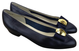 Bally Classic Leather Low Bow Black Flats