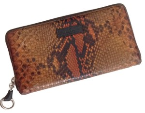 Gucci Authentic Gucci Python Zip Around Wallet