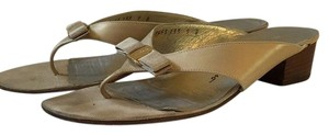 Salvatore Ferragamo Gold Sandals