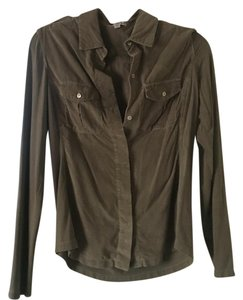 James Perse Button Down Shirt Taupe